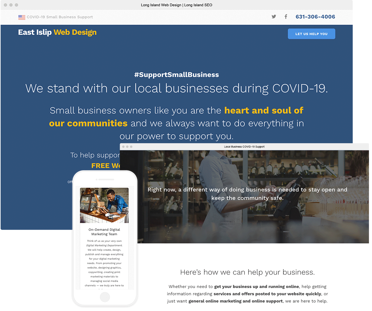 website for small businesses during covid-19