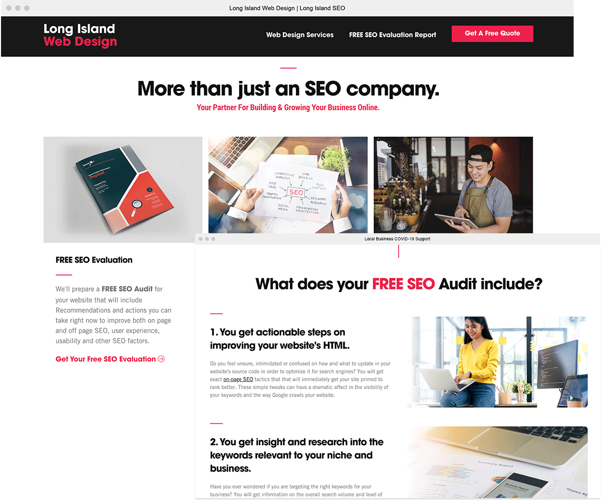 website of long island seo company