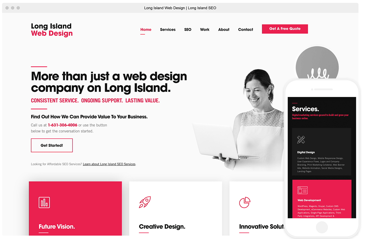 website of long island web design