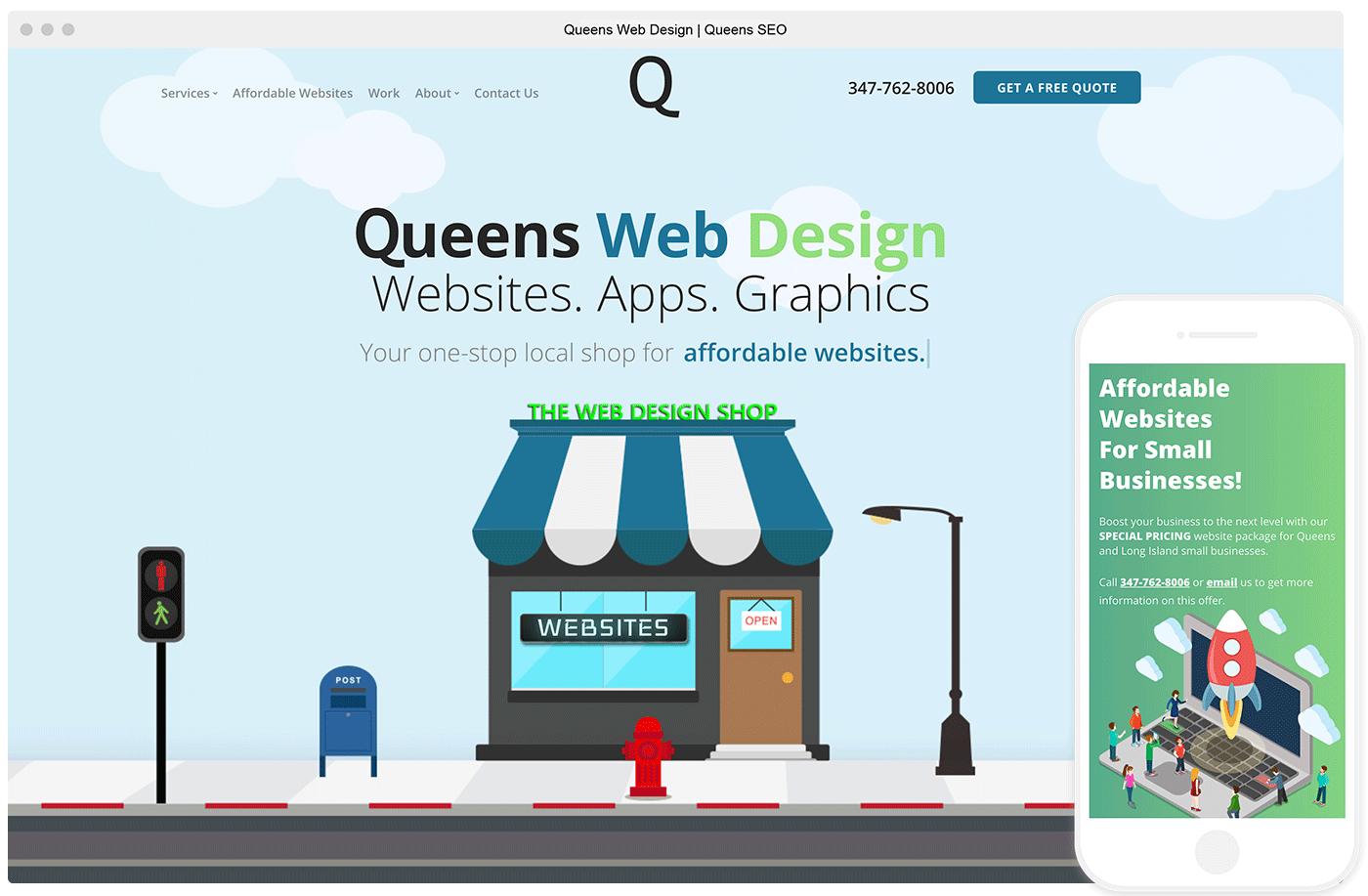 Website of Queens Web Design