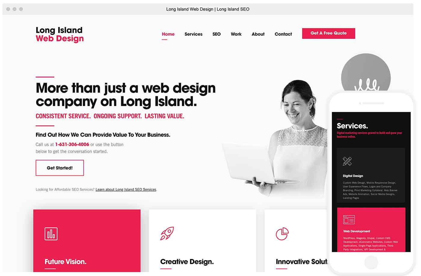 website of long island web design