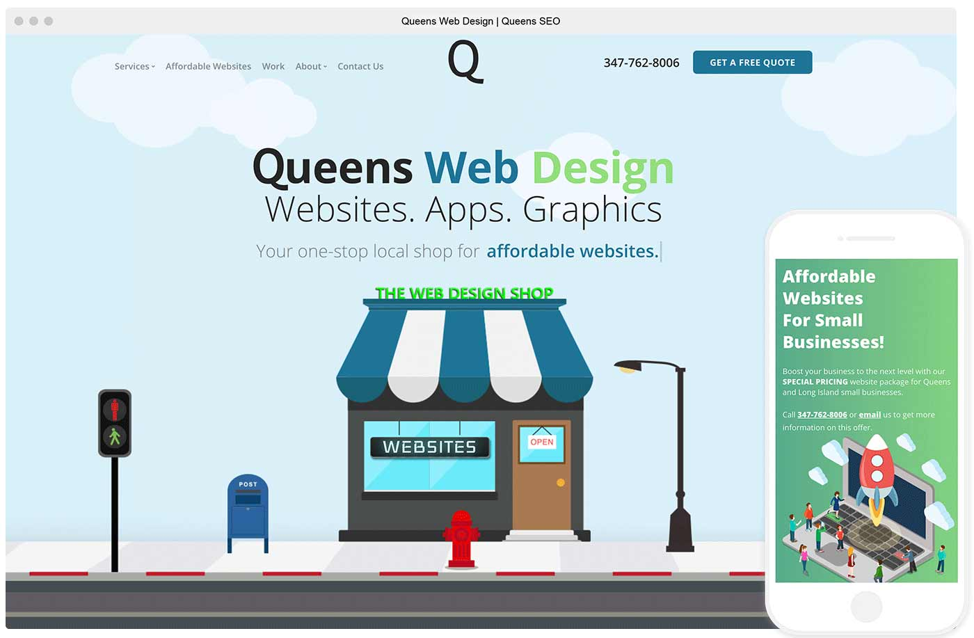 Website of Queens Web Design